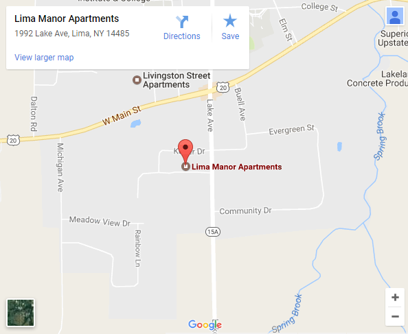 Lima Manor Apartments Map - Click for larger map