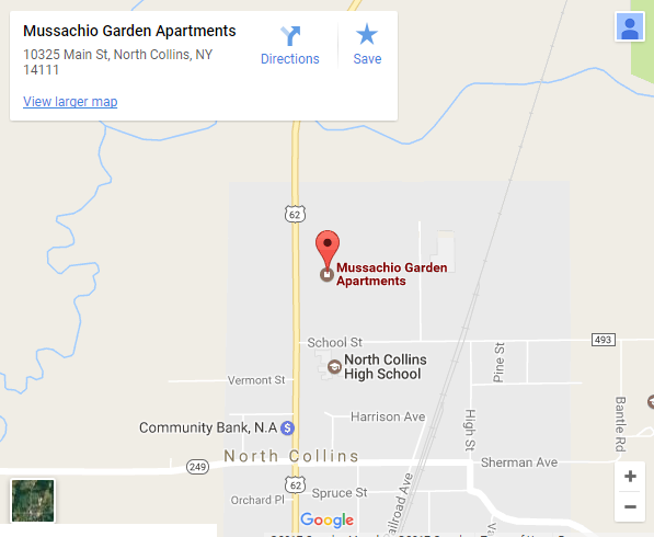 Musacchio Gardens Apartments Map - Click for larger map