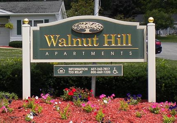 Walnut Hills Apartments Complex Sign